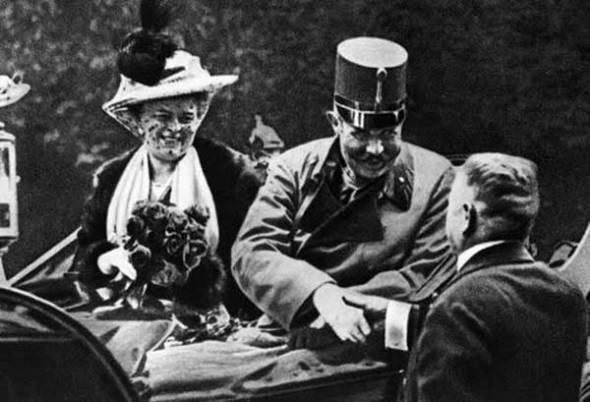 Arhiducele Franz Ferdinand și soția sa în ziua în care a fost asasinat (1914)