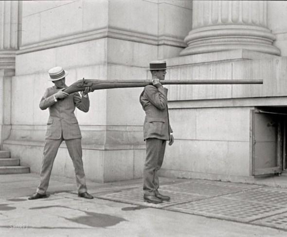 Pistol folosit pentru vânătoarea de rațe, 1900